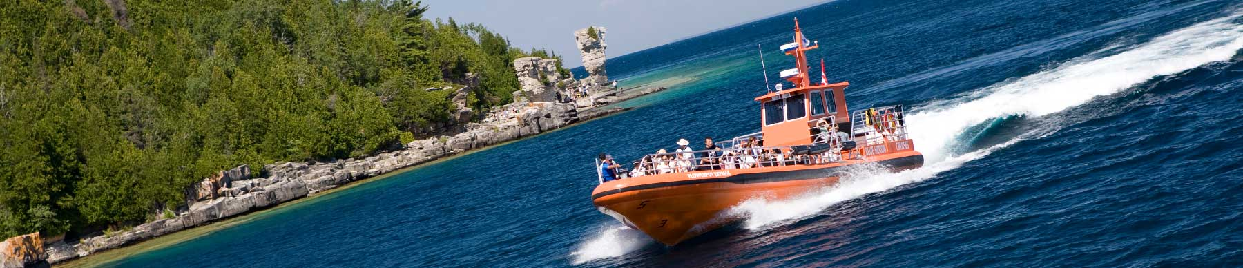 Take a glass bottom or jet boat to flowerpot island!
